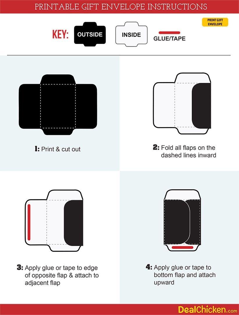 Diy Printable Gift Envelope | Free Printable Envelope Template And - Free Printable Gift Card Envelope Template