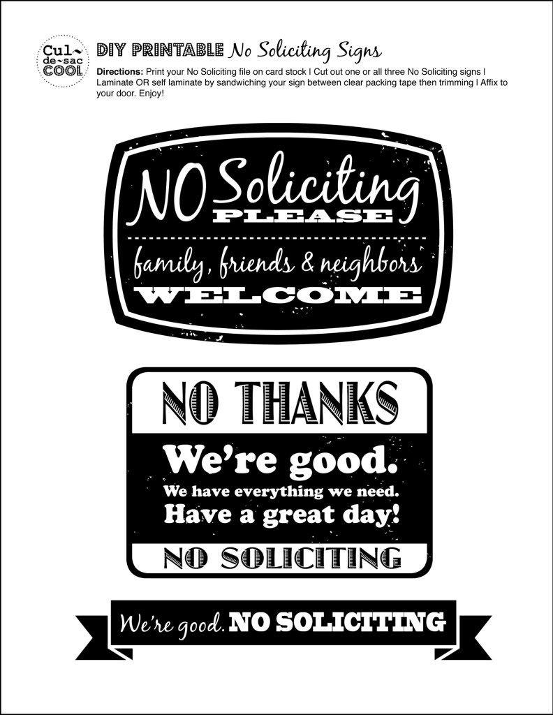 Diy Printable No Soliciting Signs … | No Soliciting Signs | No So… - Free Printable Funny Office Signs