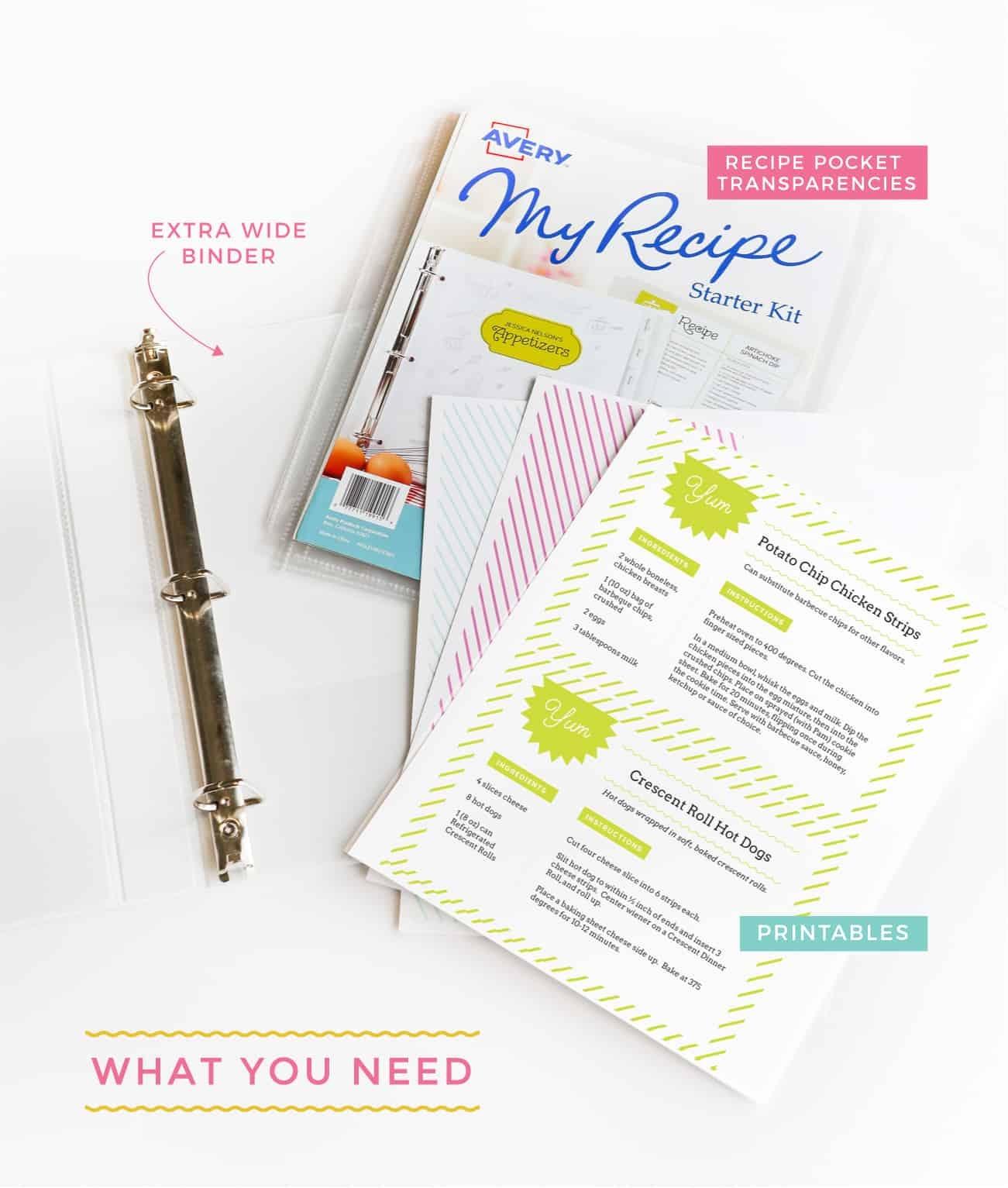 Diy Recipe Book (With Free Printable Recipe Binder Kit!) - Free Printable Recipe Binder Templates