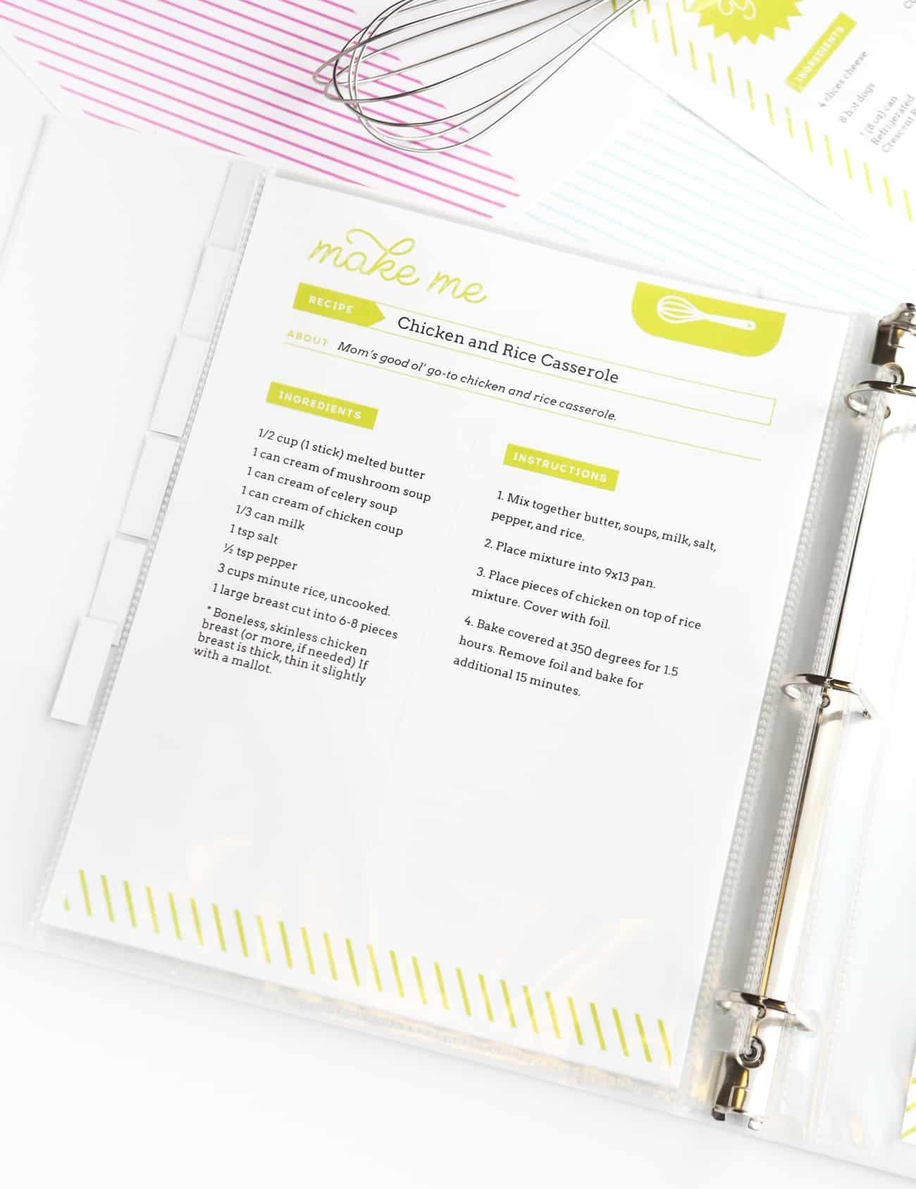 Diy Recipe Book (With Free Printable Recipe Binder Kit!) - Free Printable Recipe Book Pages