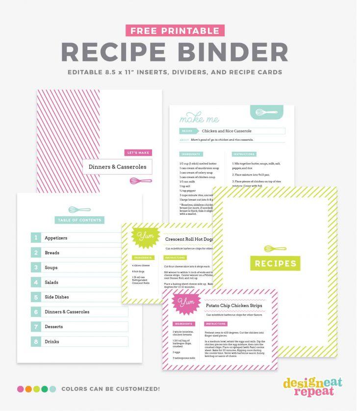Free Printable Recipe Templates