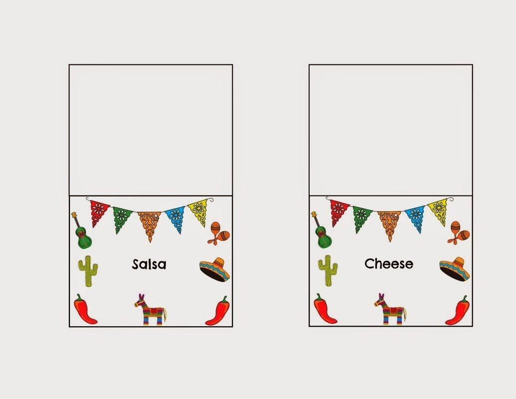 Diy Taco Bar Party - Table Tents Free Printables | Food | Taco Bar - Free Printable Table Tents