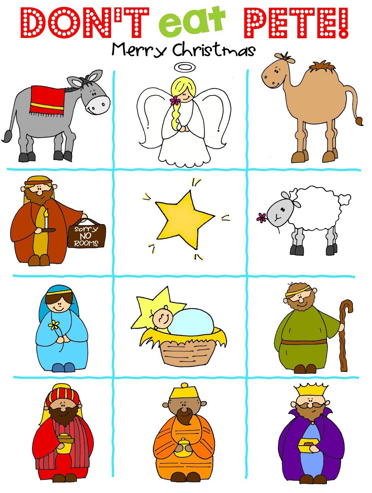 Don't Eat Pete - Nativity Version Free Printable - Don T Eat Pete Free Printable