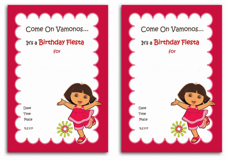 Dora The Explorer Free Printable Birthday Party Invitations - Dora The Explorer Free Printable Invitations