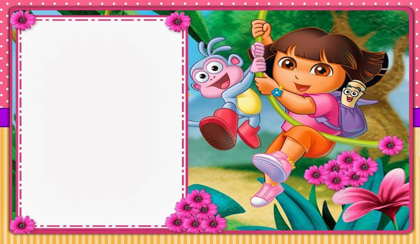 Dora The Explorer: Free Printable Invitations And Party Printables - Dora Birthday Cards Free Printable