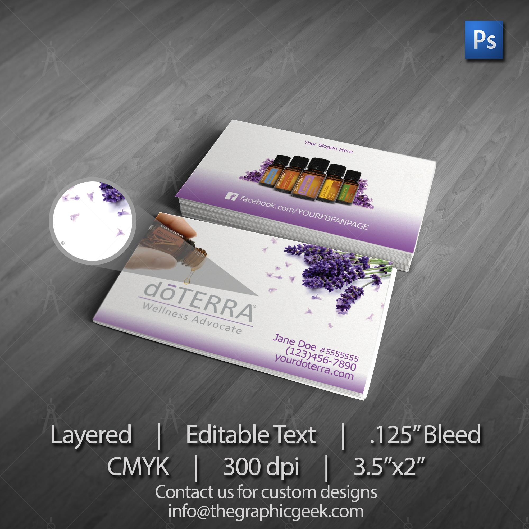 Doterra Logo For Business Cards - Tutlin.psstech.co - Free Printable Doterra Sample Cards