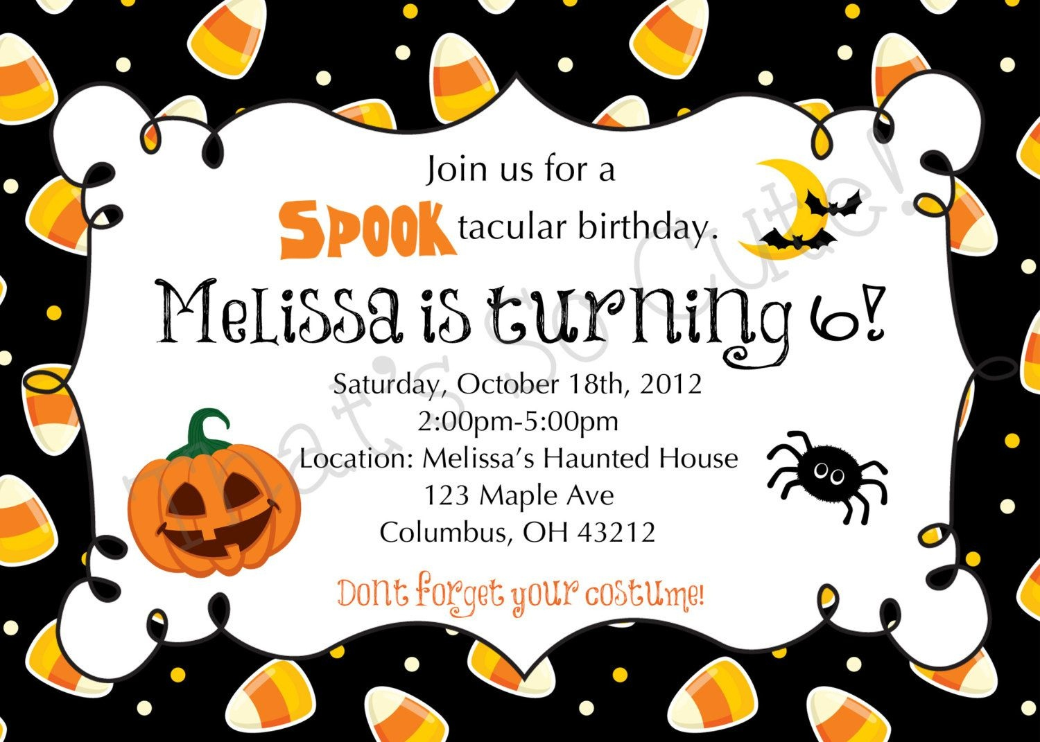 Download Free Template Free Printable Halloween Birthday Party - Free Online Halloween Invitations Printable