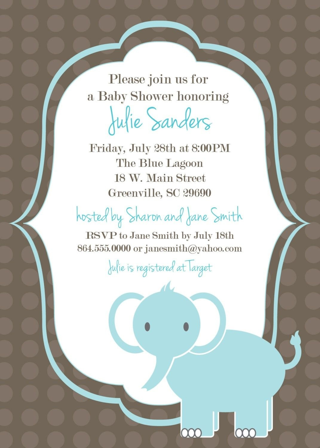 image relating to Free Printable Elephant Baby Shower Invitations identify No cost Printable Elephant Boy or girl Shower Invites Things