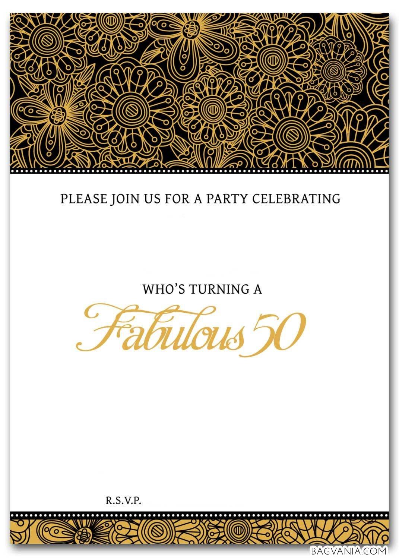 Download Now Free Printable 50Th Birthday Invitations | Bagvania - Printable Invitation Templates Free Download
