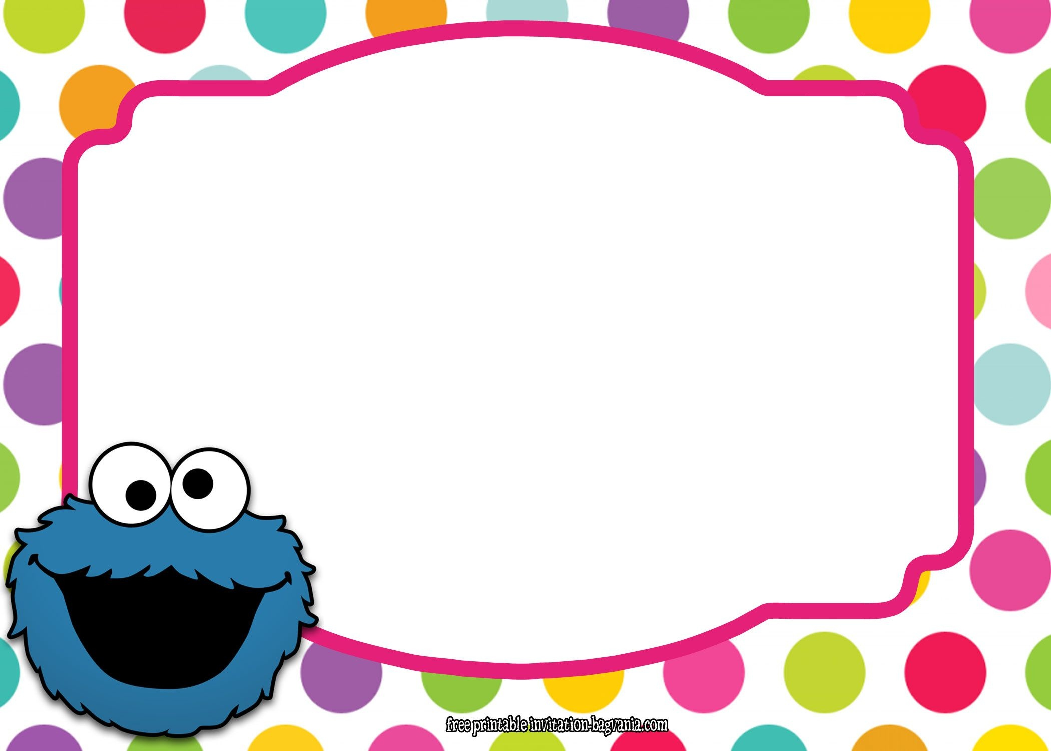 Download Now Sesame Street All Characters Invitation Template - Free Printable Monster Templates