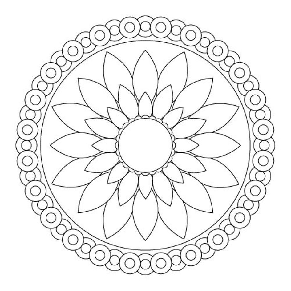 Download Simple Flower Mandala Coloring Pages Or Print Simple - Free Printable Mandala Patterns
