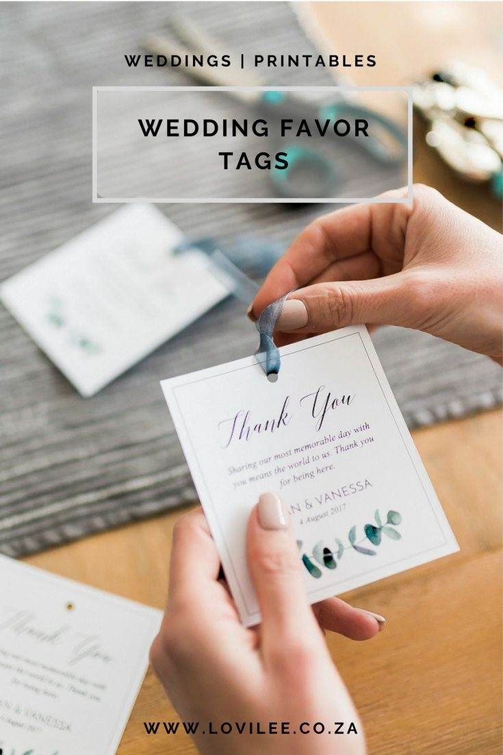 Download These Free Printable Wedding Thank You Tags | Free - Free Printable Wedding Favor Tags