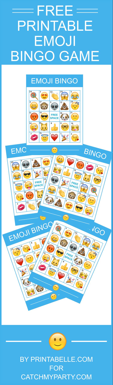 Download This Free Fantastic Printable Emoji Bingo Game!   Catch My - Free Emoji Bingo Printable