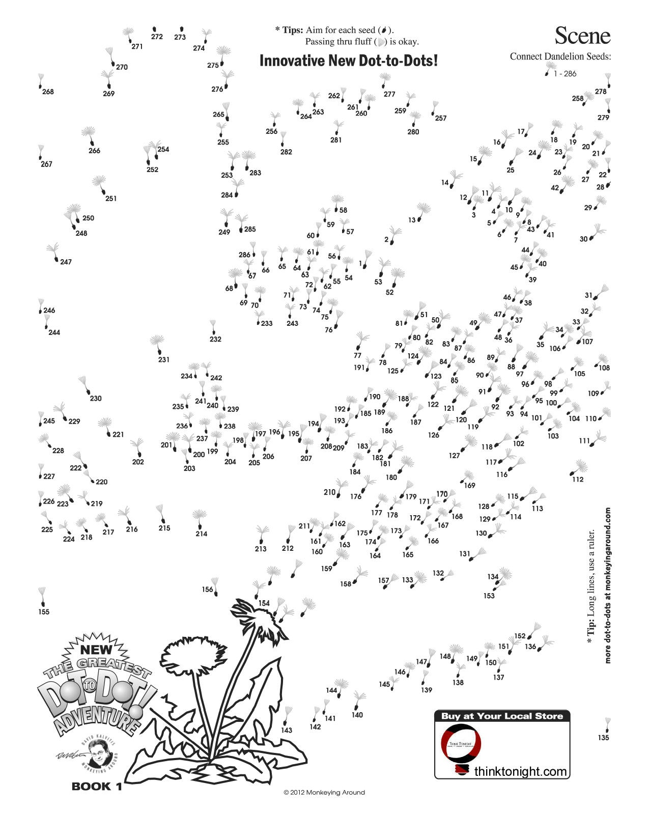 Downloadable Dot-To-Dot Puzzles - Free Printable Dot To Dot Puzzles