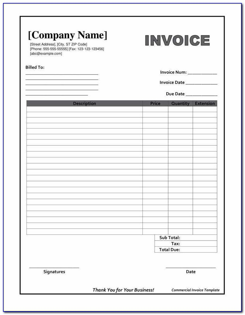 Downloadable Invoice Template Beautiful Printable Invoices Templates - Free Printable Blank Invoice