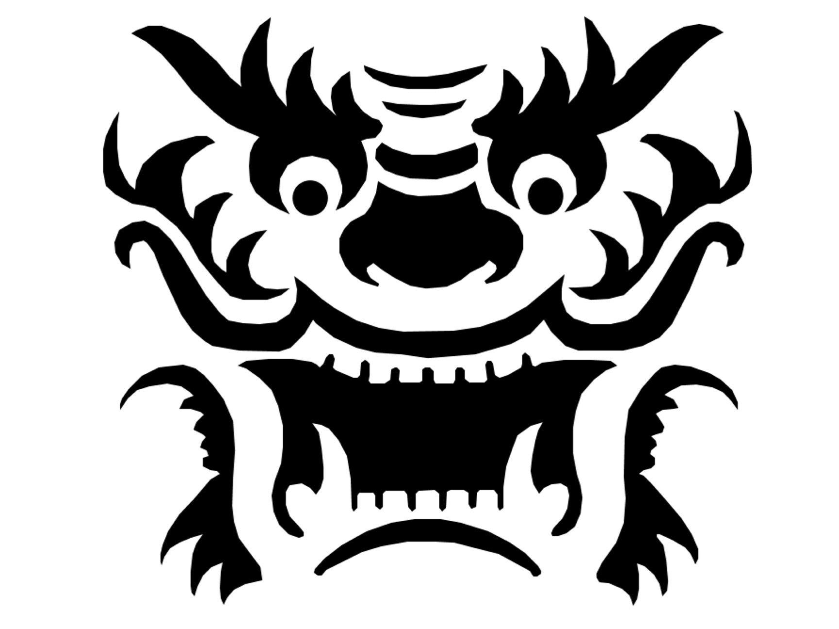 Dragon Template Printable | Dragon Pattern~Pumpkin-Crazy On - Free Printable Dragon Stencils