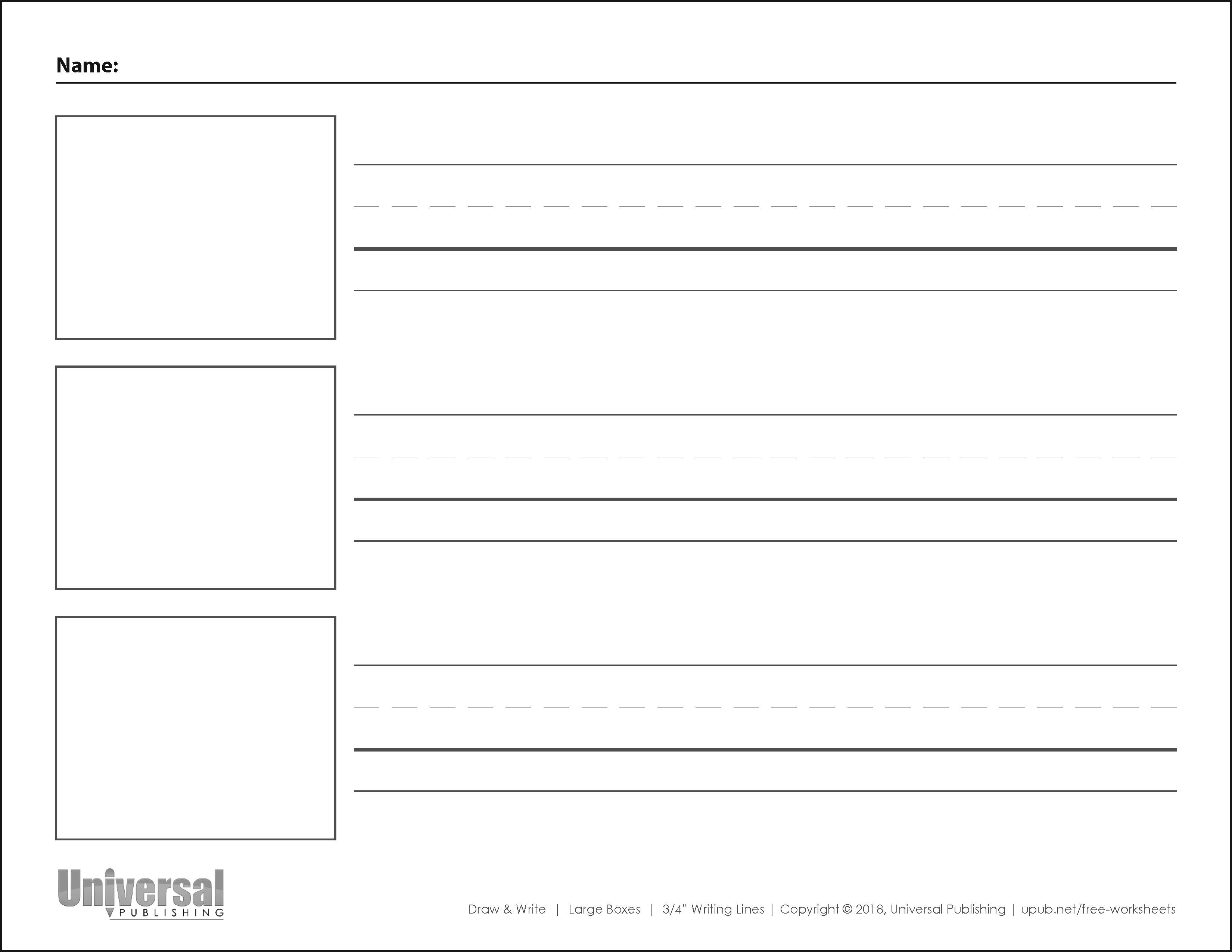 Draw & Write Paper | Free Printables - Universal Publishing Blog - Free Printable Writing Paper With Picture Box