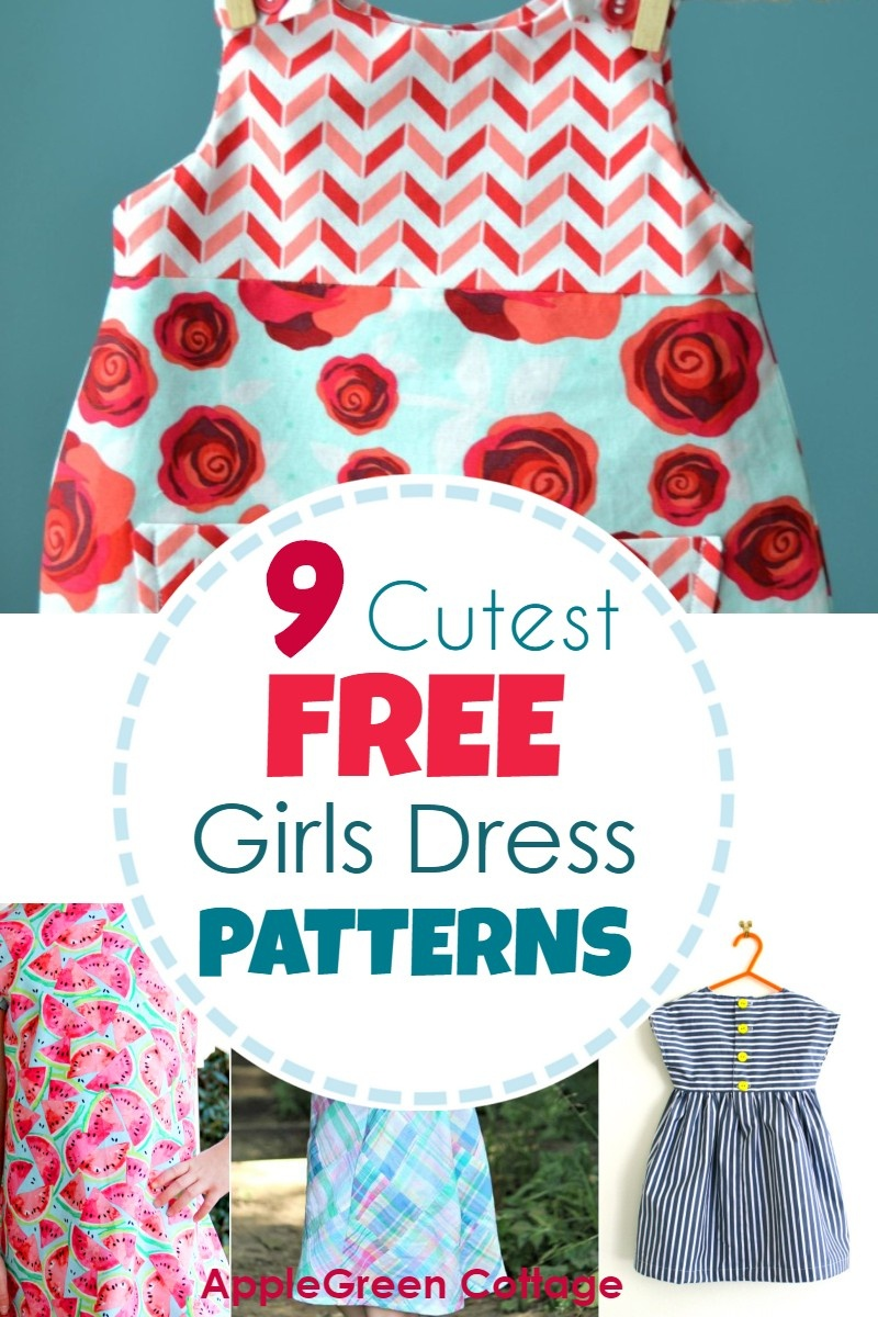 Dress Patterns For Girls - 9 Adorable Free Patterns! - Applegreen - Free Printable Toddler Dress Patterns