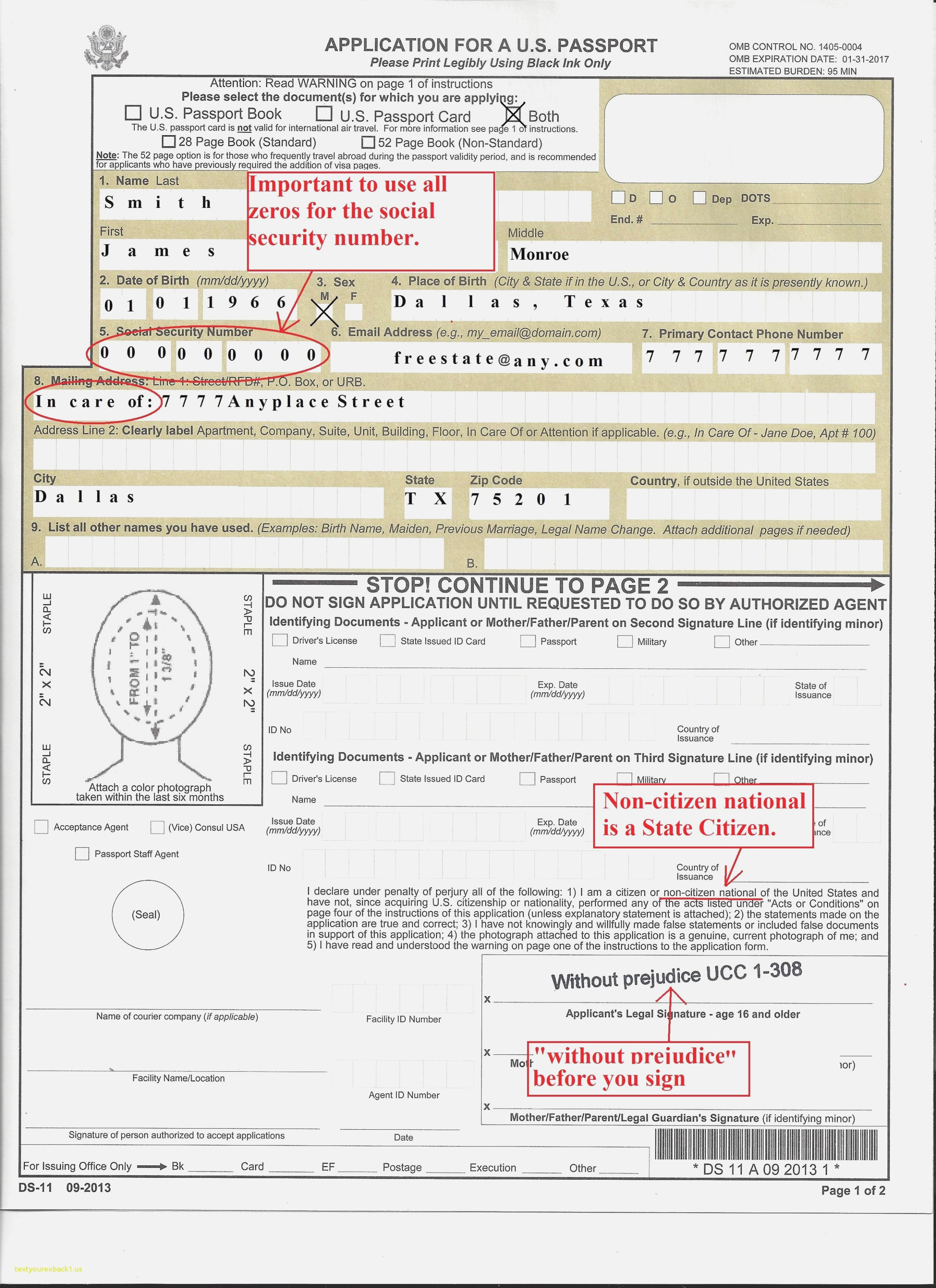 Ds 11 Form For Passport - Travelingshana - Free Printable Ds 11