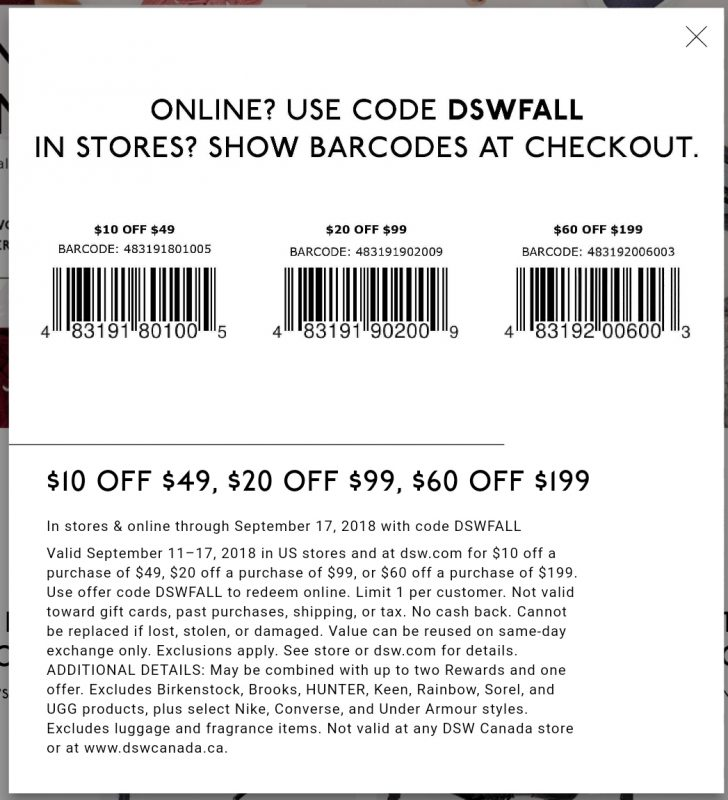 Free Printable Coupons For Dsw Shoes