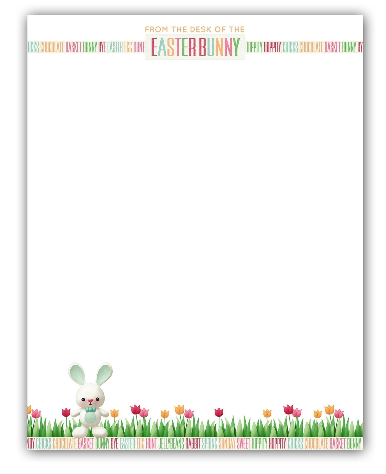 Easter Bunny Stationary | Free Printable | Printable Freebies! In - Free Printable Spring Stationery