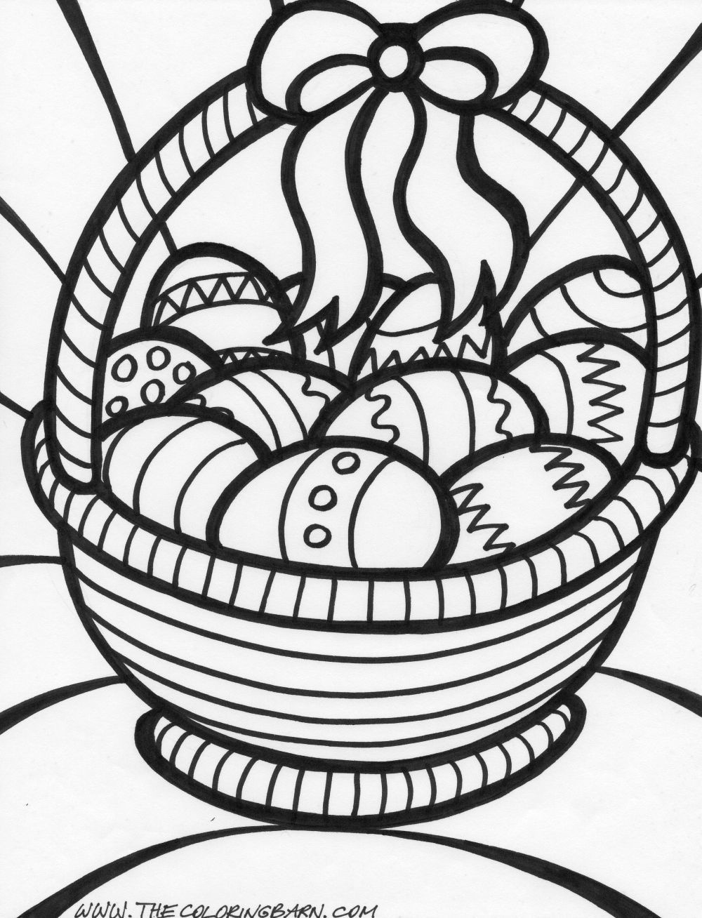 Easter Coloring Pages | Big Easter Basket Coloring Page | Things I - Free Printable Coloring Pages Easter Basket