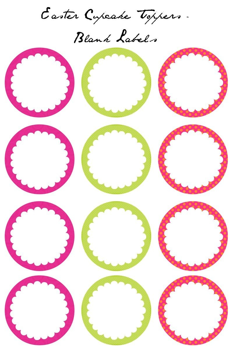Easter Cupcake Toppers - Free Printables | Decorating Ideas - Cupcake Topper Templates Free Printable