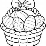 Easter Egg Basket Drawing At Paintingvalley | Explore Collection   Free Printable Coloring Pages Easter Basket