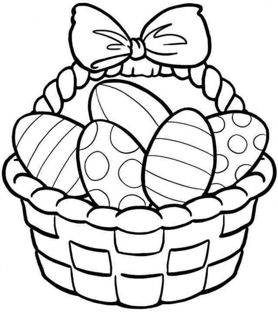 Easter Egg Basket Drawing At Paintingvalley   Explore Collection - Free Printable Coloring Pages Easter Basket
