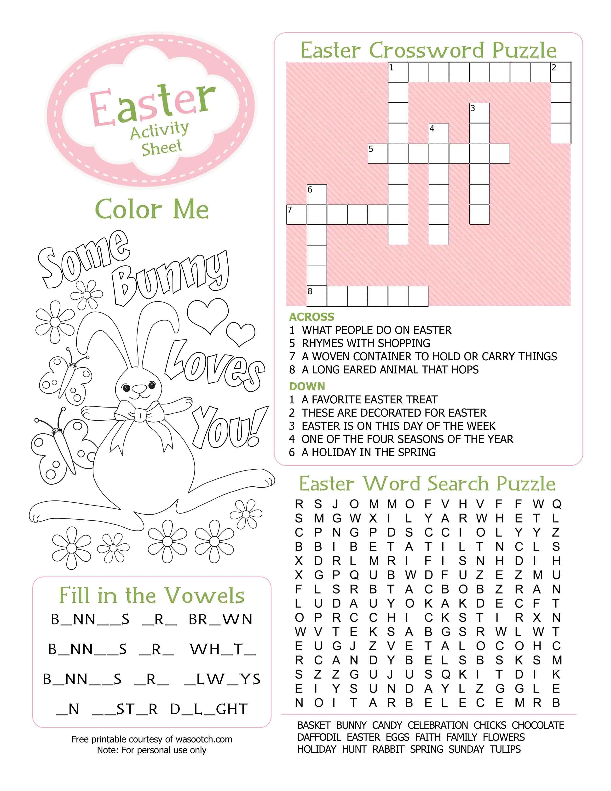 Easter Kid's Activity Sheet Free Printables Available @party - Free Printable Kid Activities Worksheets