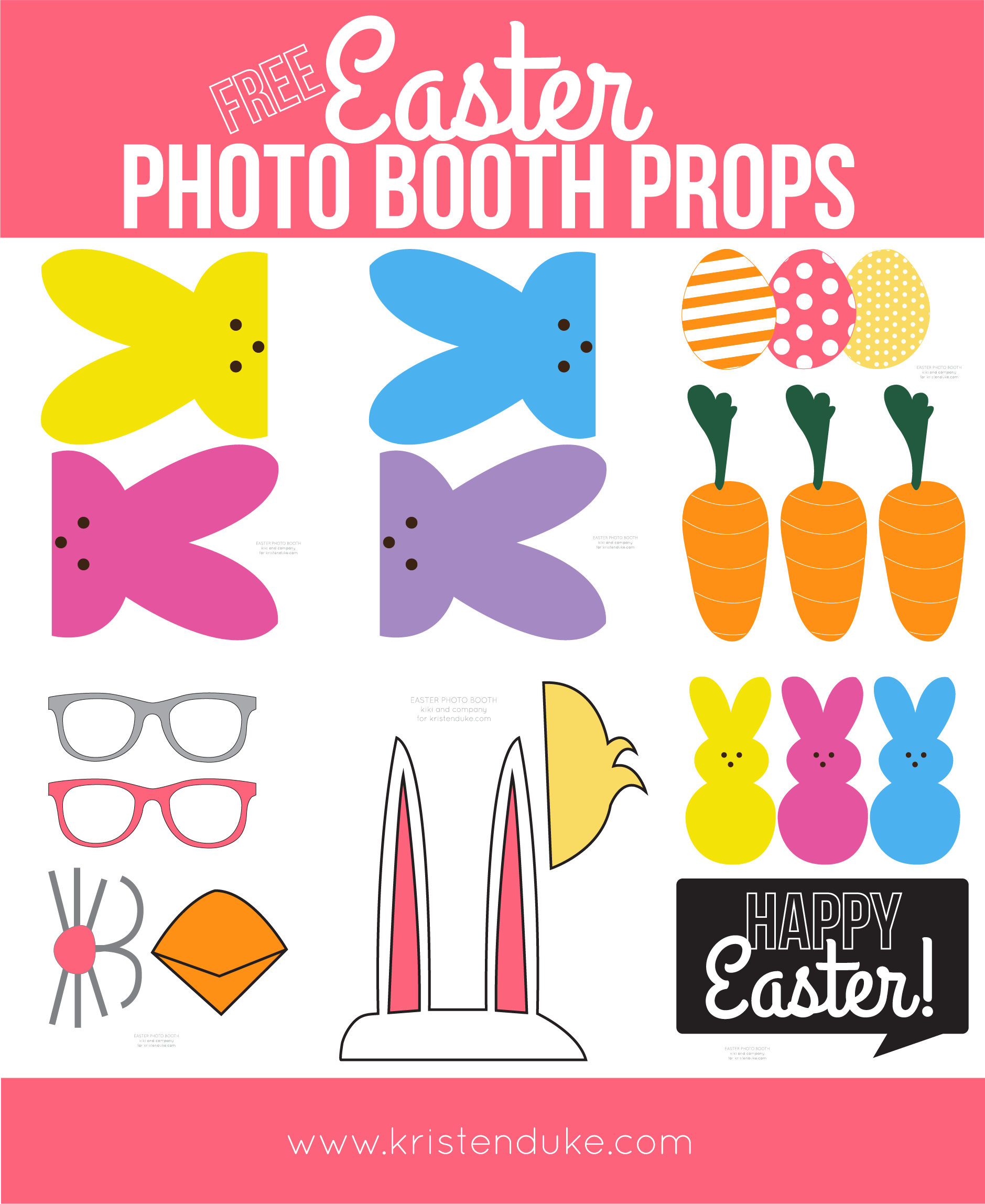 Easter Photo Booth Props From Capturing Joy With Kristen Duke - Free Printable Photo Booth Props