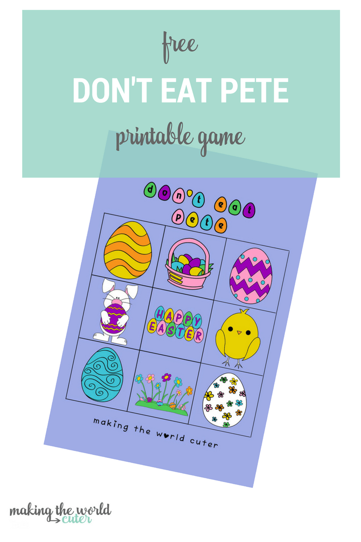 Easter Printable Don't Eat Pete Coloring Book Page And Game - Don T Eat Pete Free Printable