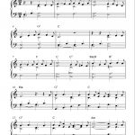 Easy Piano Solo Arrangementpeter Edvinsson Of The Christmas   Christmas Piano Sheet Music Easy Free Printable
