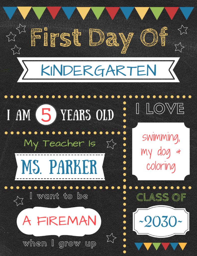 Editable First Day Of School Signs To Edit And Download For Free - Free Printable Back To School Signs