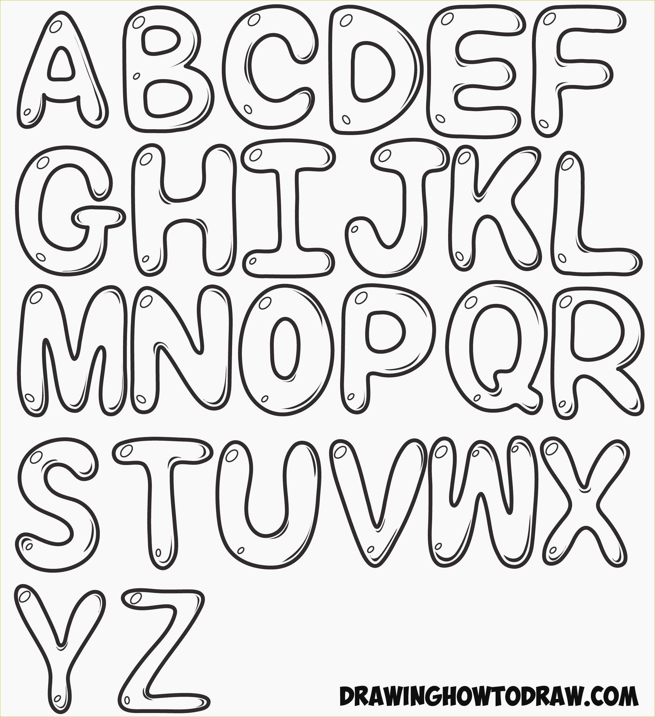 Elegant Free Printable Bubble Letters | Www.pantry-Magic - Free Printable Bubble Letters