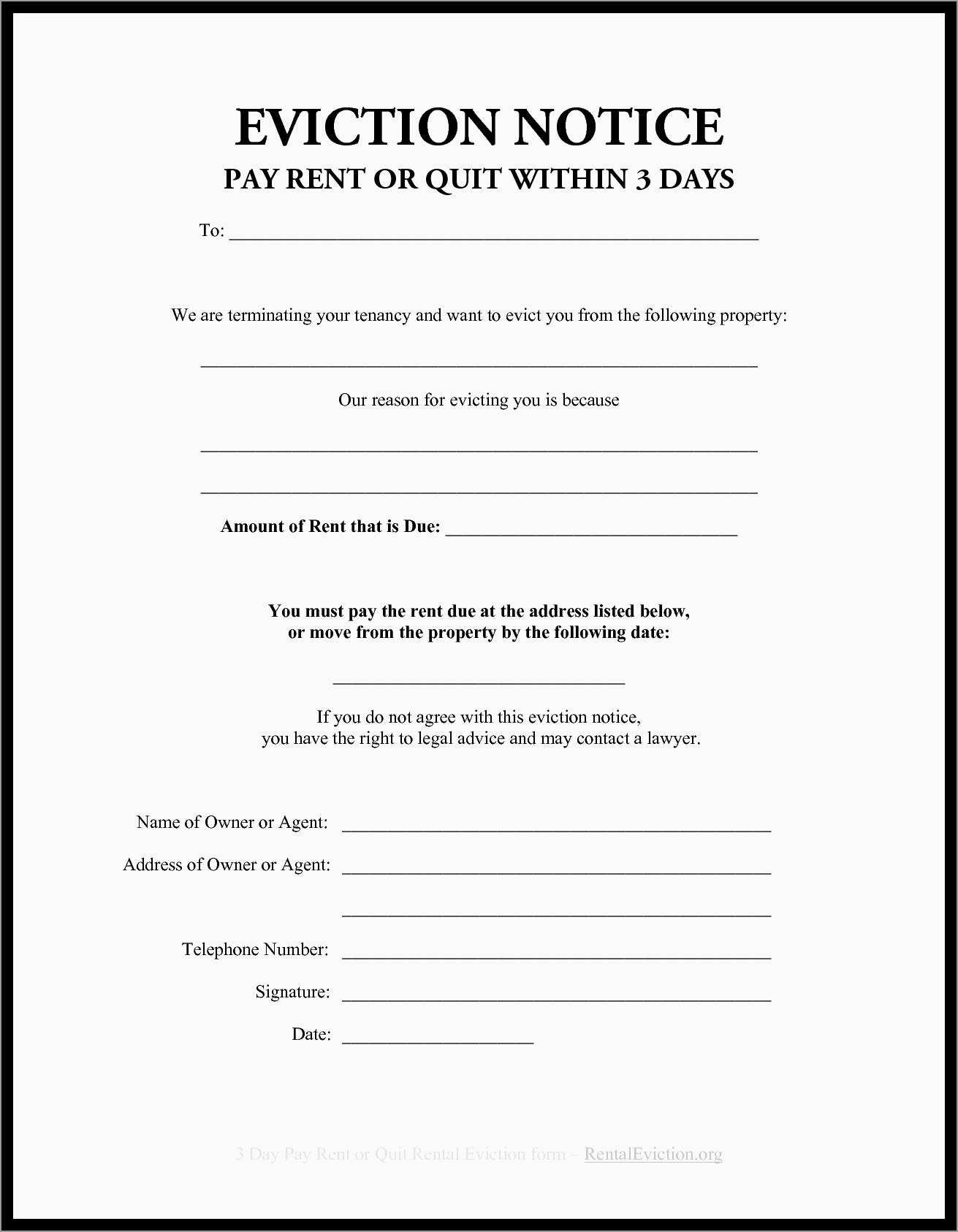 Elegant Free Printable Eviction Notice Template | Best Of Template - Free Printable Eviction Notice Ohio