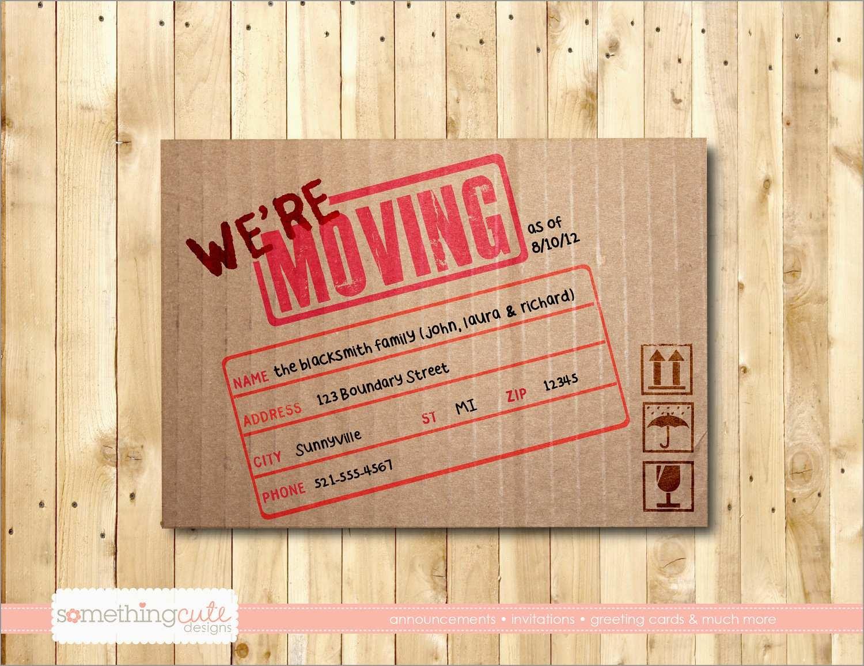 Elegant Free Printable Moving Announcement Templates   Best Of Template - Free Printable Moving Announcement Templates