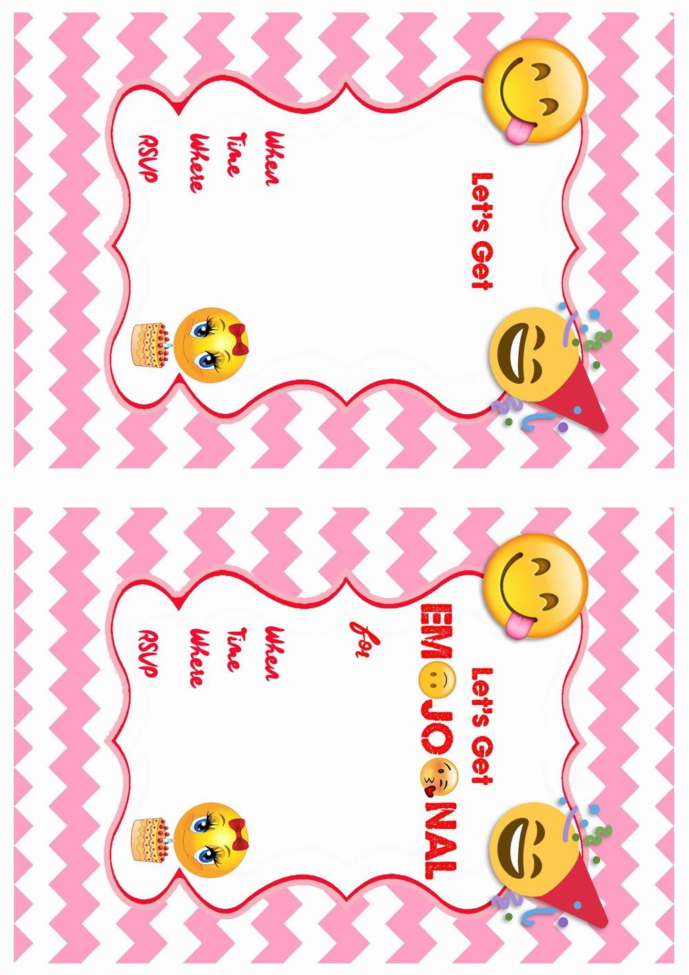 Emoji Birthday Invitations | Birthday Printable - Emoji Invitations Printable Free