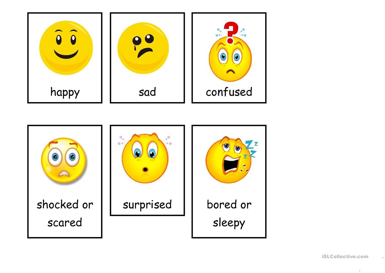 Emotions (Flashcards) Worksheet - Free Esl Printable Worksheets Made - Free Printable Pictures Of Emotions