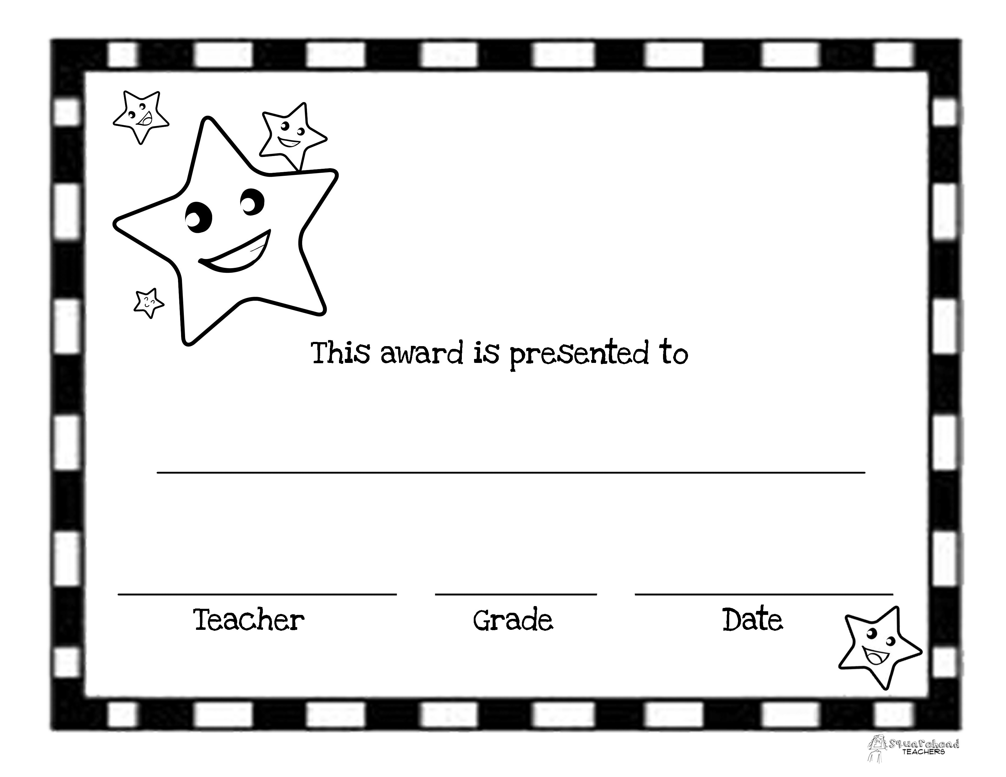 End Of The Year Awards (44 Printable Certificates)   Squarehead Teachers - Free Printable Certificates For Teachers