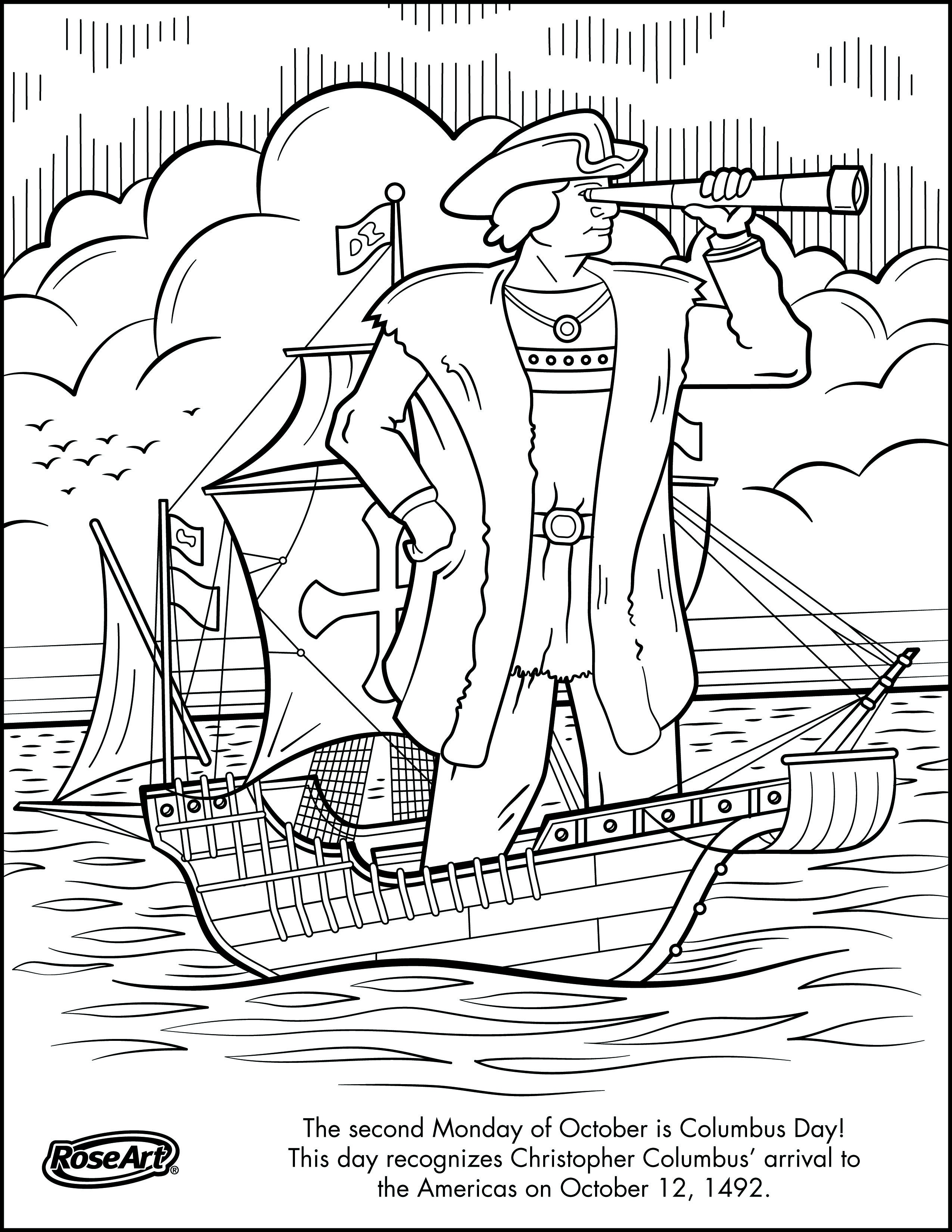 Engage Younger Kids With Columbus Day With Printable Coloring Pages - Free Printable Christopher Columbus Coloring Pages