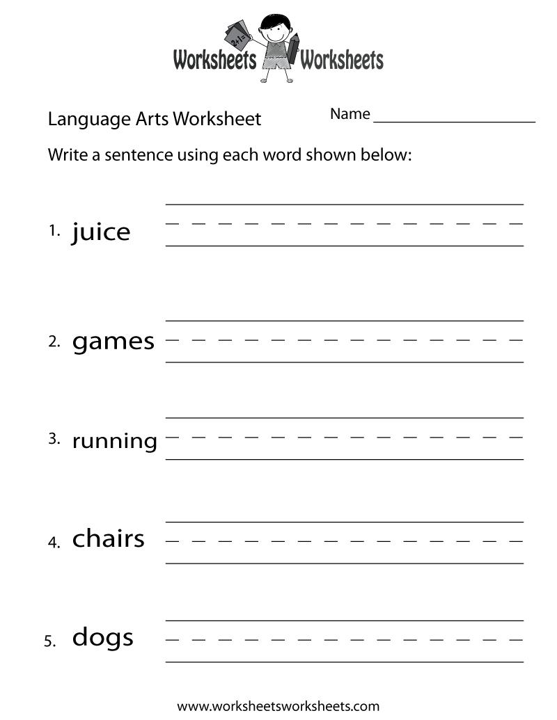 English Language Arts Worksheet - Free Printable Educational - Free Printable Ela Worksheets