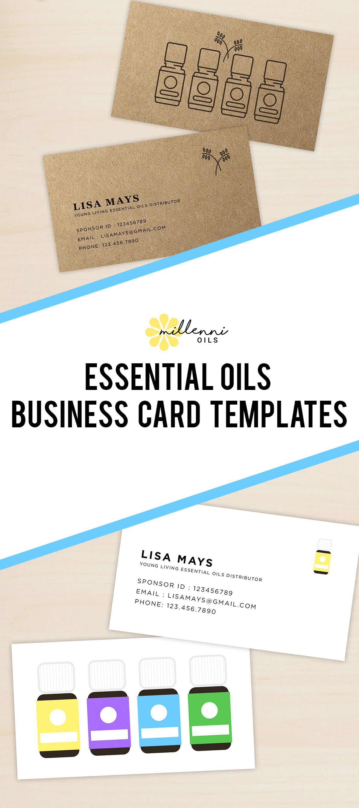 Essential Oil Business Cards, Young Living Essential Oils, Business - Free Printable Doterra Sample Cards