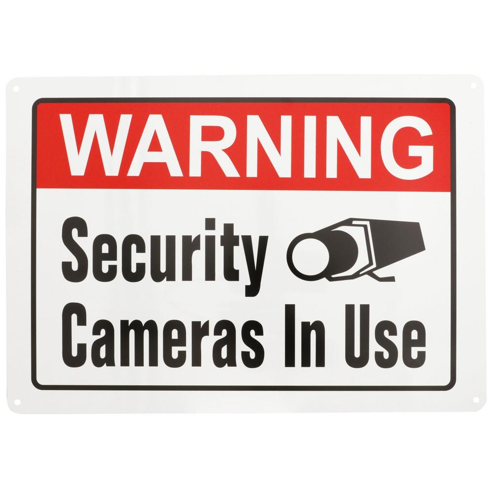 Everbilt 10 In. X 14 In. Security Cameras In Use Sign-31104 - The - Printable Video Surveillance Signs Free