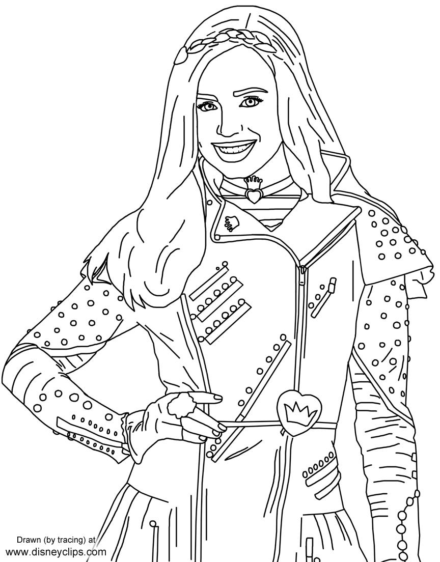 Evie From Disney's #descendants   Free Printables   Descendants - Free Printable Descendants Coloring Pages