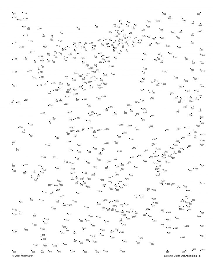 Free Printable Dot To Dot Hard