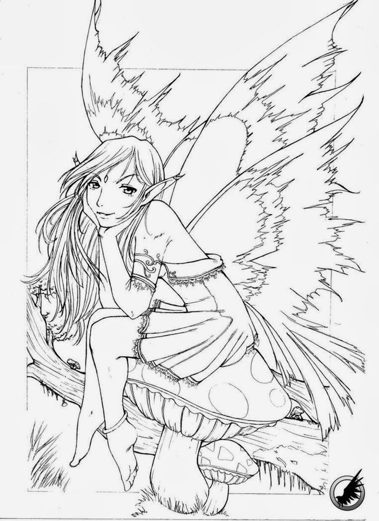 Fairy Coloring Pages Detailed Fairy Coloring Pages For Adults Free - Free Printable Coloring Pages Fairies Adults