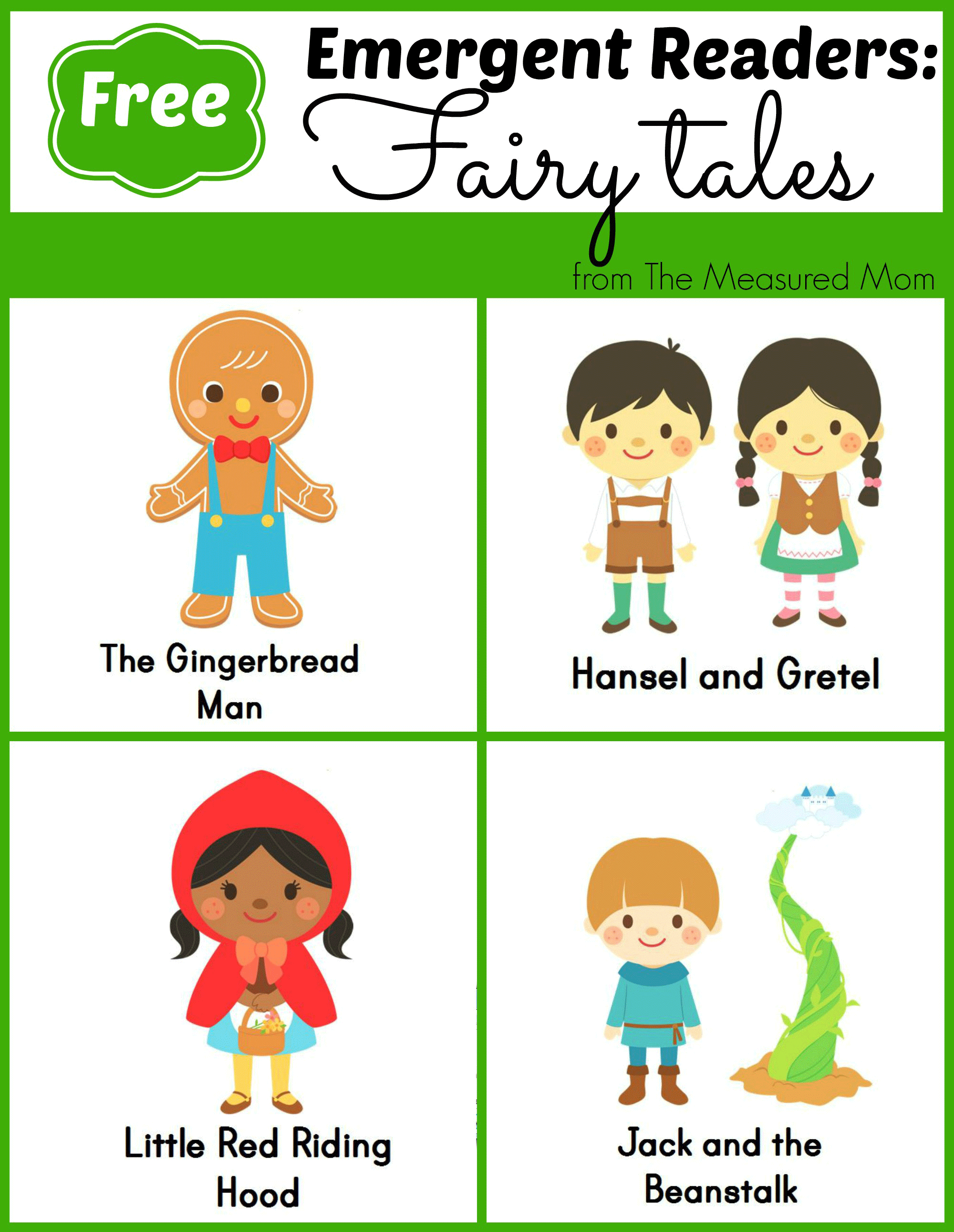 Fairy Tale Emergent Readers   Reading & Writing Readiness   Emergent - Free Printable Disney Stories
