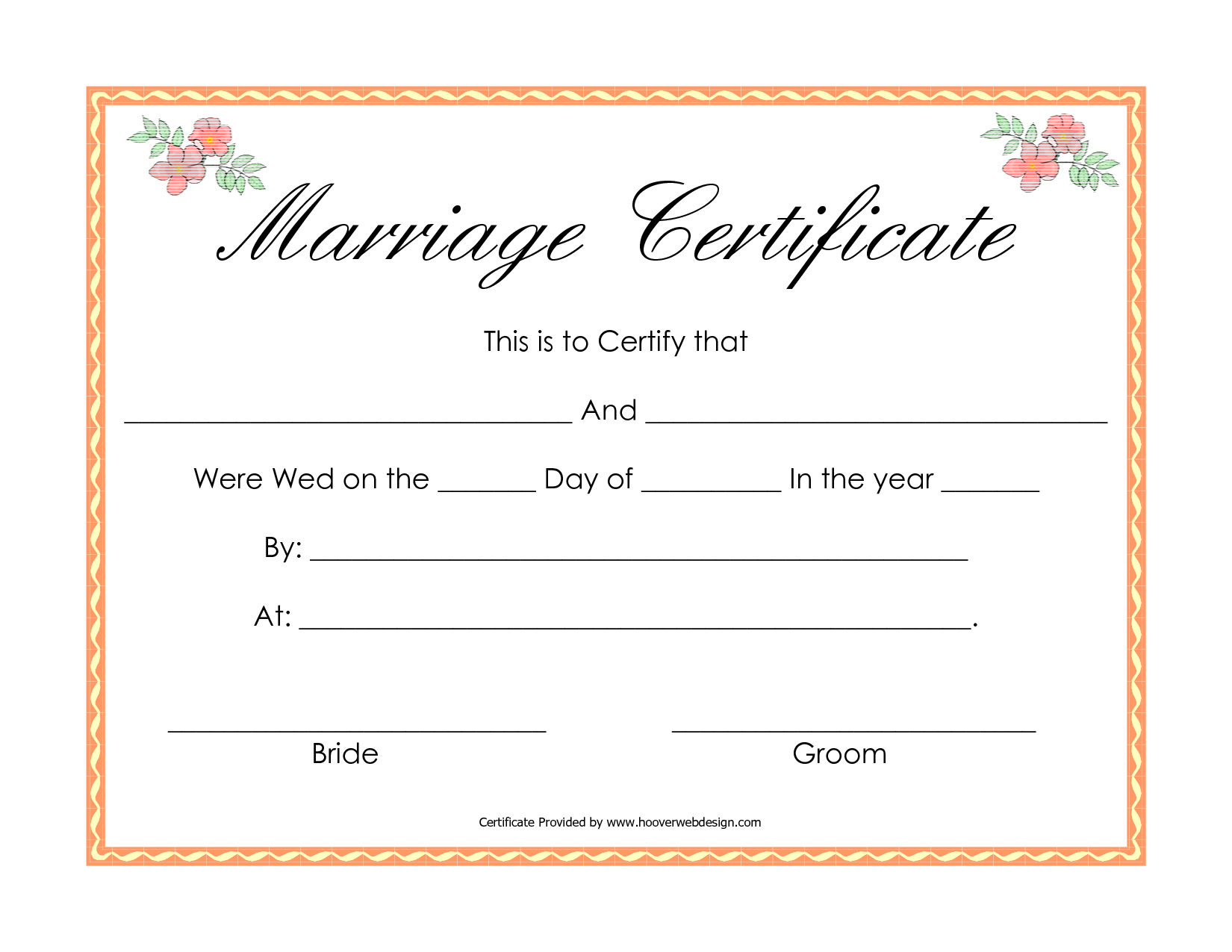 Fake Marriage Certificate   Angela   Marriage Certificate, Online - Fake Marriage Certificate Printable Free
