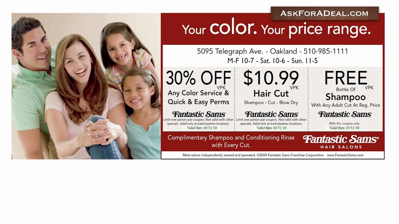 Fantastic Sams Coupons - Youtube - Free Printable Coupons For Fantastic Sams